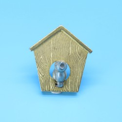 Quirky Bird House Shaped Brooch by JJ.
