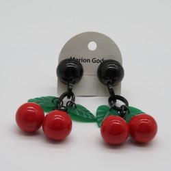 Cherry Shaped Clip On Earrings by Marion Godart