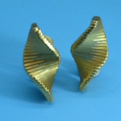 Claude Montana 1980s Vintage Gold Tone Earrings