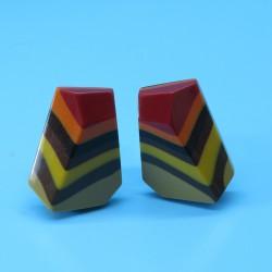 Marion Godart Abstract Resin Earrings
