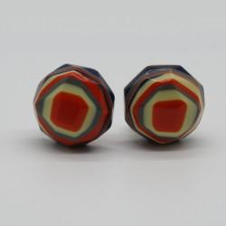 Hexagonal Funky Colourful Earrings by Marion Godart Paris