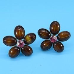 Philippe Ferrandis Vintage Flower Earrings for Nina Ricci