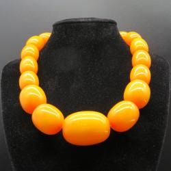 Marion Godart Amber Coloured Resin Large Beaded Necklace